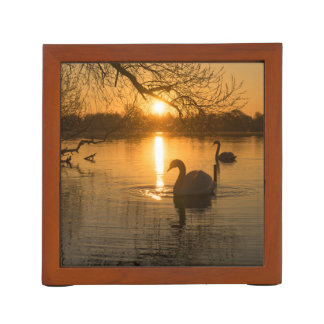 Sunset with Swan Desk Organiser