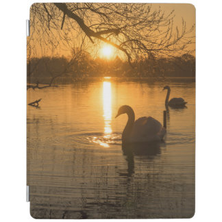 Sunset with Swan iPad Cover