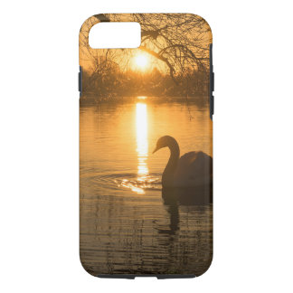 Sunset with Swan iPhone 8/7 Case