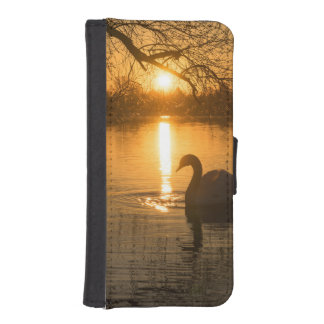 Sunset with Swan iPhone SE/5/5s Wallet Case