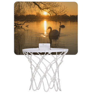 Sunset with Swan Mini Basketball Hoop