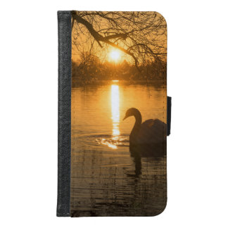 Sunset with Swan Samsung Galaxy S6 Wallet Case