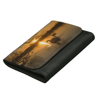 Sunset with Swan Women's Wallet