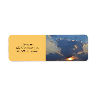Sunset with Teacup Cloud Formation Return Address Label