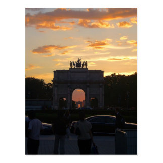 Sunset with the monuments postcard