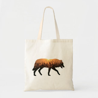 Sunset Wolf Tote Bag