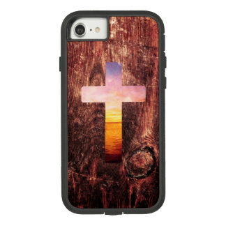 Sunset wood cross Case-Mate tough extreme iPhone 8/7 case