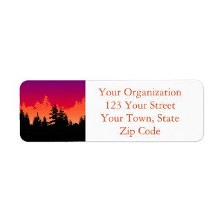 Sunset Woods Return Address Label
