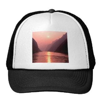 Sunset Yangtze River China Mesh Hat
