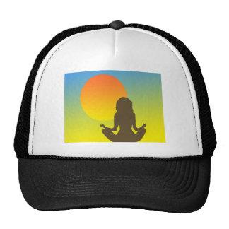 sunset yoga mesh hats