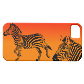 Sunset Zebras I phone case