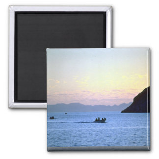 Sunset's afterglow, small boat on Sea of Cortez, M Square Magnet