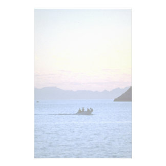 Sunset's afterglow, small boat on Sea of Cortez, M Personalized Stationery