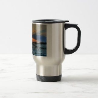 Sunsets and beaches stainless steel travel mug