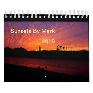Sunsets By Mark 2018 Wall Calendar