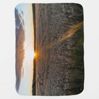 Sunsets field buggy blanket