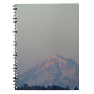 Sunset's Glow on the Mountain Spiral Notebook