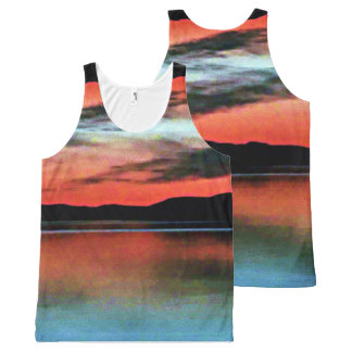 Sunsets of the Inner Passage All-Over Print Tank Top