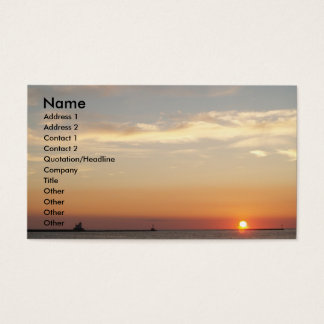 Sunsets, Sailboats and Lighthouse Business Card