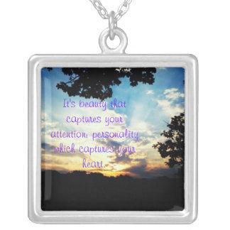 Sunsets Square Pendant Necklace