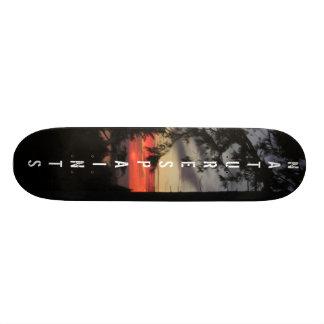 Sunsetting on the bay board skateboard decks
