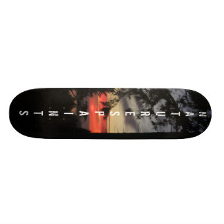 Sunsetting on the bay board skateboard decks