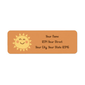 Sunshine Address Label