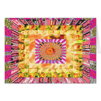 Sunshine and Chakra Collage- Artistic Presentation Card