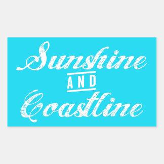 Sunshine and Coastline Rectangular Sticker