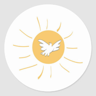 Sunshine and Dove Classic Round Sticker