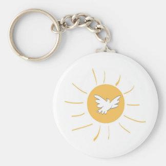 Sunshine and Dove Key Ring