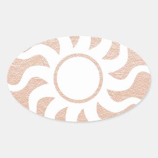 SUNSHINE and Jewels on Golden Embossed Foil Sticker