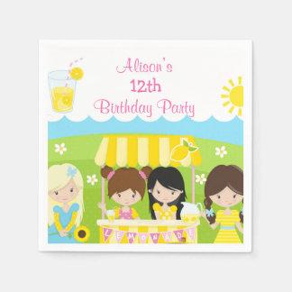 Sunshine and Lemonade Birthday Paper Napkin
