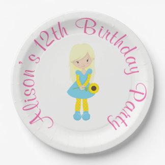 Sunshine and Lemonade Birthday Paper Plate