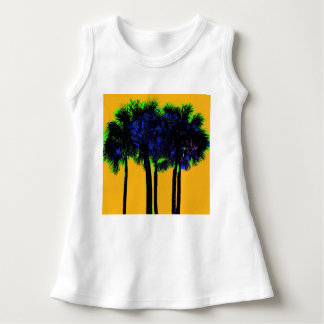 sunshine and pop palm trees dress