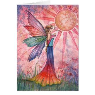 Sunshine and Rainbow Fairy Greeting Card
