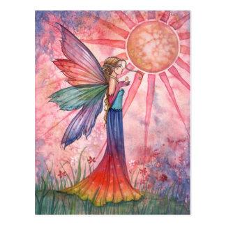 Sunshine and Rainbow Fairy Postcard