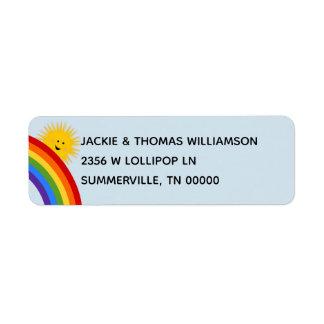 Sunshine and Rainbows Address Lable Return Address Label