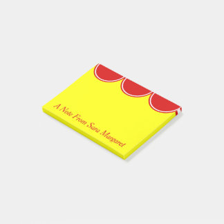 Sunshine and Summer Red Polka Dot Personalized Post-it Notes