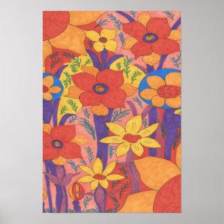 Sunshine and Wildflowers Art Poster Print