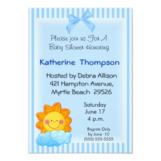 Sunshine  Baby  Shower Invitation