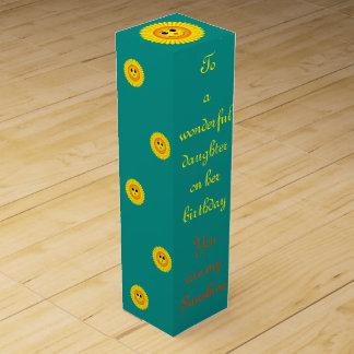 Sunshine Birthday Daughter Wine Gift Box