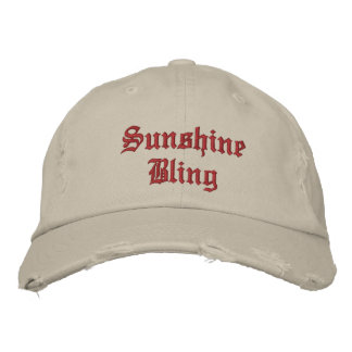 Sunshine Bling Cap Embroidered Hat
