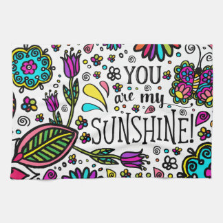 Sunshine Bold Colorful Butterfly Kitchen Towel