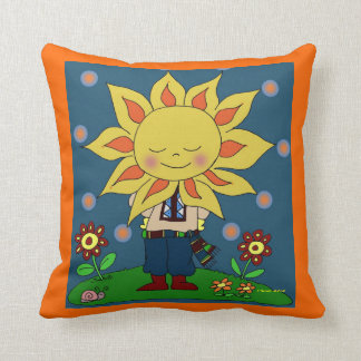 Sunshine Boy Ukrainian Folk Art Cushion
