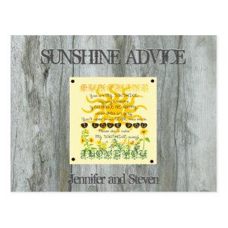 Sunshine   Bridal Shower Advice Card