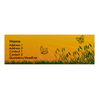 Sunshine Butterfly Profile Card Pack Of Skinny Business Cards