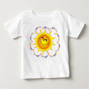 SUNSHINE & BUTTERIES COLORFUL HAPPY CHILD'S TEE