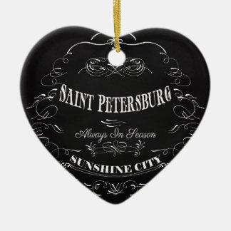 Sunshine City-Saint Petersburg-Always in Season Ceramic Heart Decoration