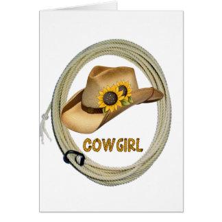 Sunshine Cowgirl Note Card
